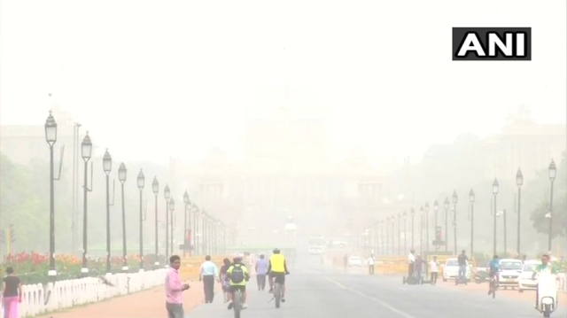The air quality in New Delhi's Rajpath.