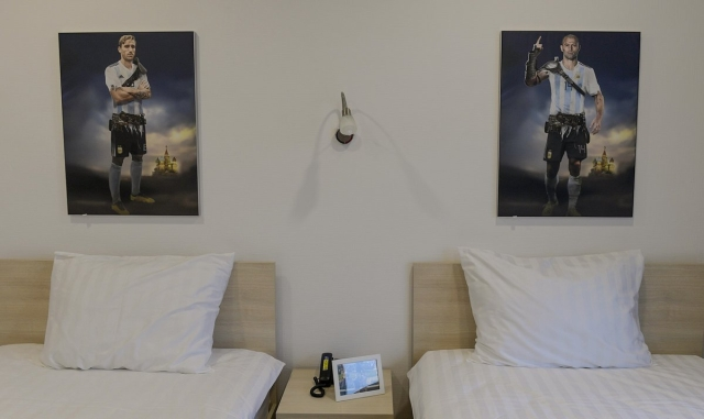 Photo of Biglia and Mascherano's bedroom from the Argentina training base