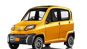 This is the Bajaj Qute, India's first quadricycle car.