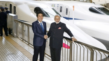 The bullet train project is a joint collaboration between JICA and NHSRCL.