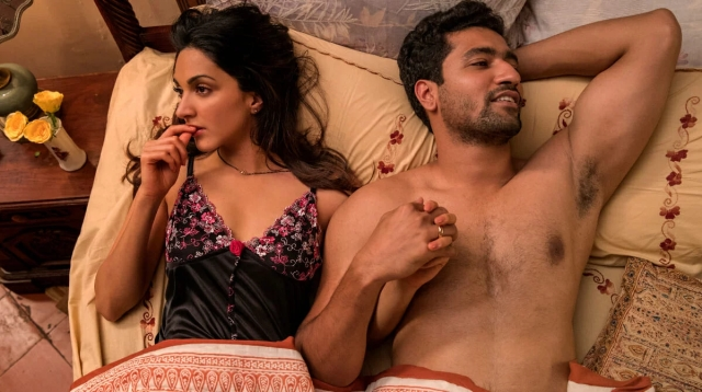 Kiara Advani and Vicky Kaushal in <i>Lust Stories.</i>
