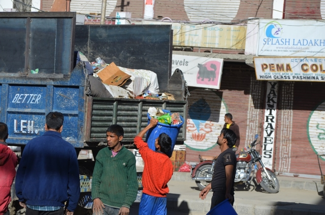 Waste from restaurants, hotels and households is collected every morning from the markets of Leh town to keep it clean. But this waste is dumped in the open without any treatment. Authorities in Leh said they are in the process of putting up a mechanism in place to treat waste.