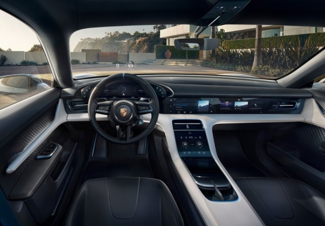 Mission E Cross Concept interior.