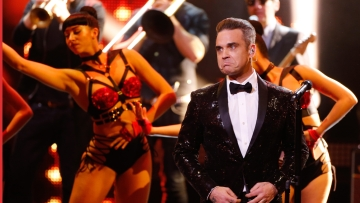 File picture of British singer Robbie Williams who will be performing at the FIFA World Cup 2018 opening ceremony in Moscow on Thursday.