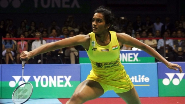 File photo of PV Sindhu who has been knocked out of the Japan Open badminton tournament.
