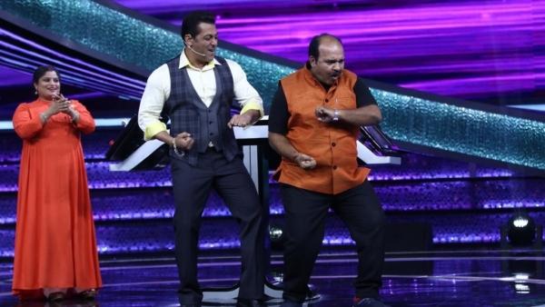 Sanjeev Shrivastava, aka India's beloved Dancing Uncle, danced with Salman Khan on the sets of <i>Dus Ka Dum</i>.