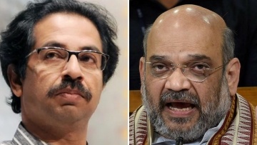 Shiv Sena chief Amit Shah and BJP chief Uddhav Thackeray.