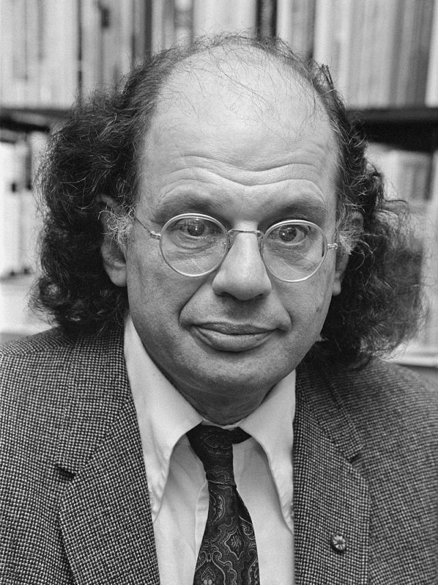 Iconic Beat poet Allen Ginsberg.