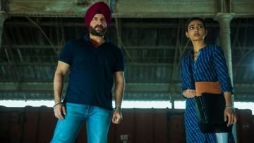 Saif Ali Khan and Radhika Apte in <i>Sacred Games.</i>