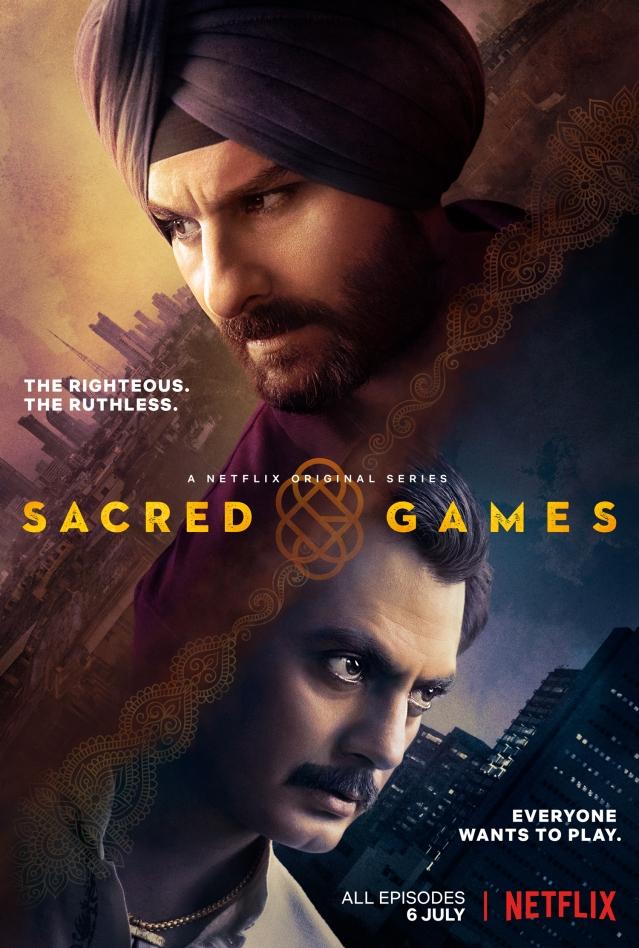The poster of <i>Sacred Games.</i>
