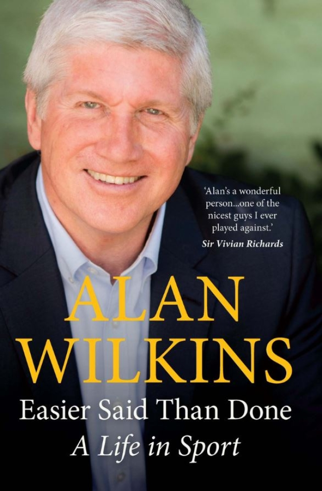The cover of Alan Wilkins' autobiography.