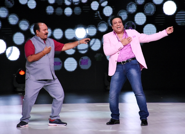 Govinda and Sanjeev Shrivastava show off their moves.