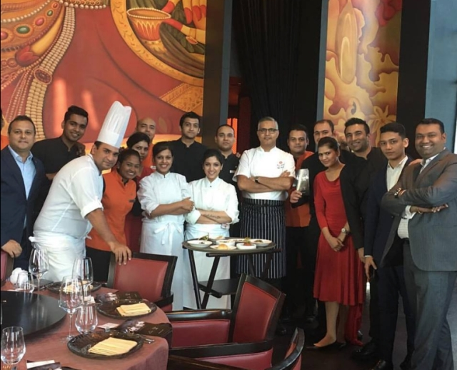 Atul Kochhar with his colleagues at JW Marriot, Dubai.