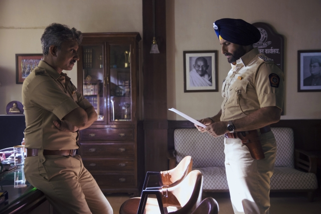 Saif Ali Khan and Neeraj Kabi in <i>Sacred Games.</i>