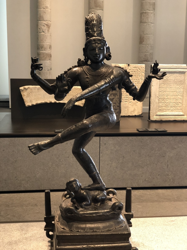 Louvre houses this bronze 'Dancing Shiva' from Tamil Nadu.