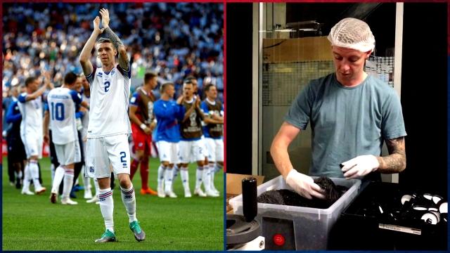 Birkir Saevarsson: Part-time salt packer, part-time Messi-stopper.
