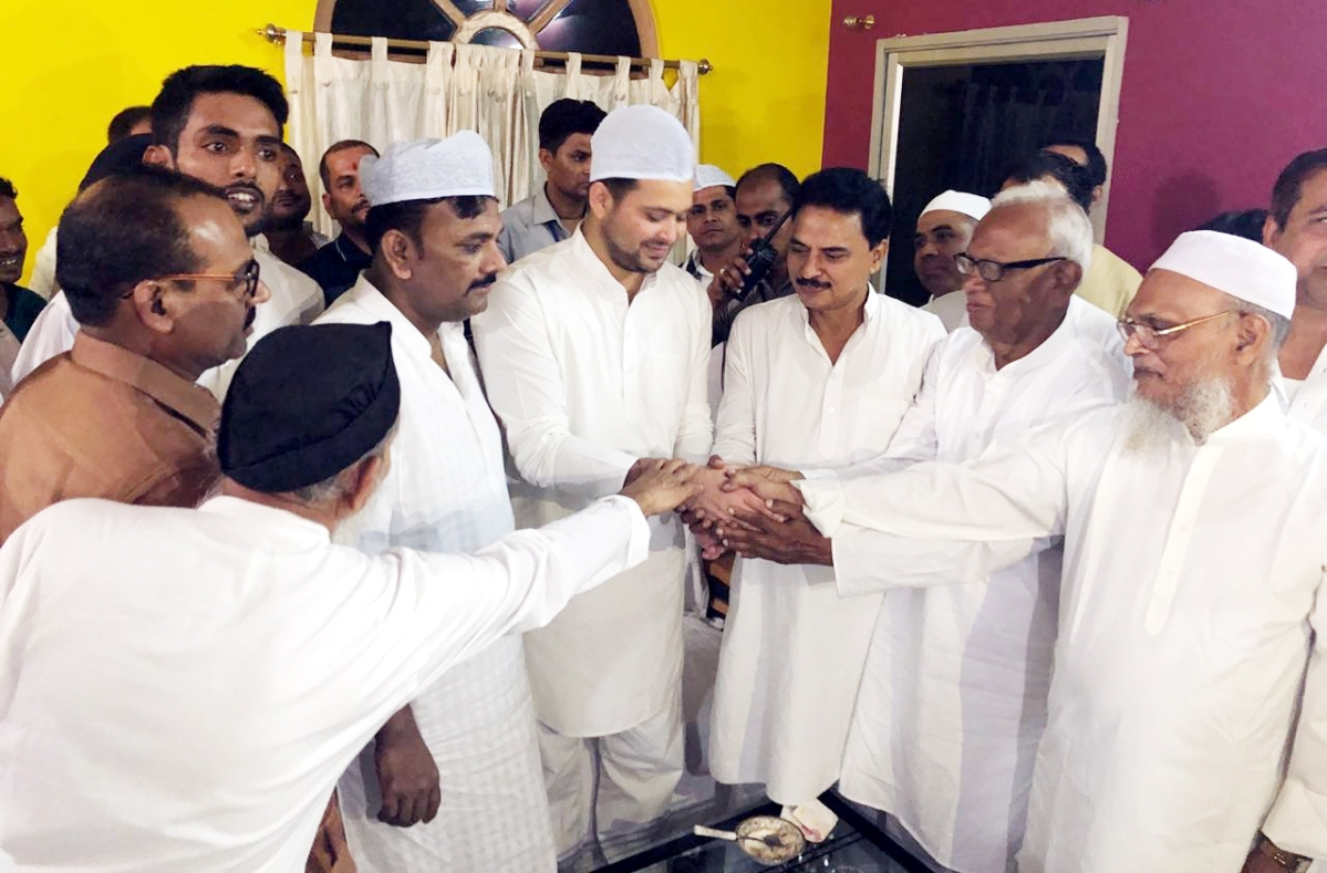 Eid celebrations in india in photos this is how india greeted eid rjd leader tejashwi yadav greeting muslims on occasion of eid ul fitr in patna m4hsunfo