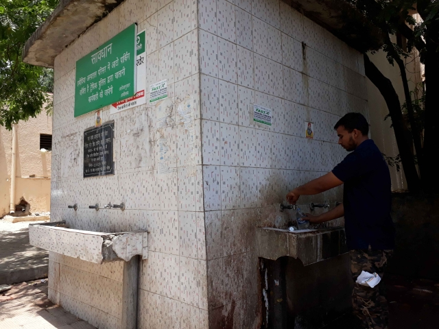 Water collected outside Gandhi Medical College.