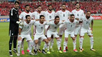 Iran pose before a World Cup qualifier against South Korea
