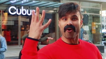 Rahim Pardesi in his video 'Bollywood in Public'