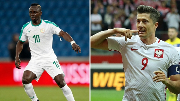 Both forwards will look to be game-changers in their face off. Lewandowski (right) is a prolific striker whereas Mane plays across the front of the formation.
