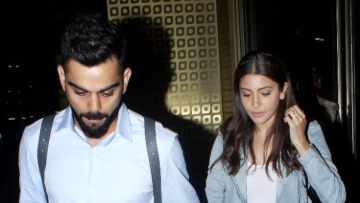 Virat Kohli and Anushka Sharma spotted at the airport, returning from Bengaluru.