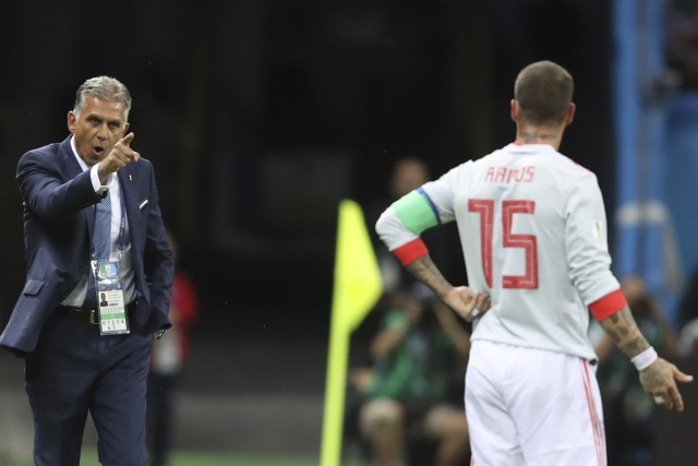 Ramos is no stranger to controversy, and doesn't shy away from jawing with anyone, even Iran coach Carlos Queiroz.