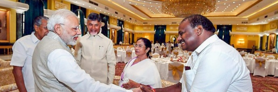 Image result for Chandrababu Naidu's real face became evident while receiving PM at Niti Ayog