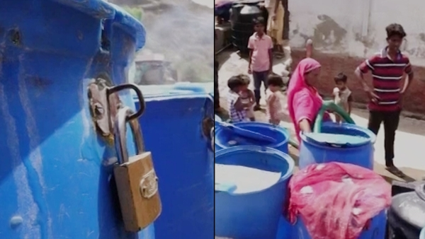 Ajmer residents  lock up their water tanks because of the fear that it may get stolen