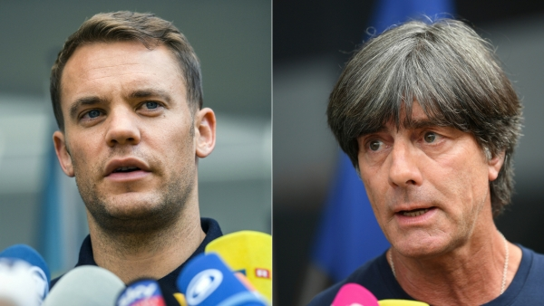 Germany captain and coach speak to the media after their exit from the World Cup.