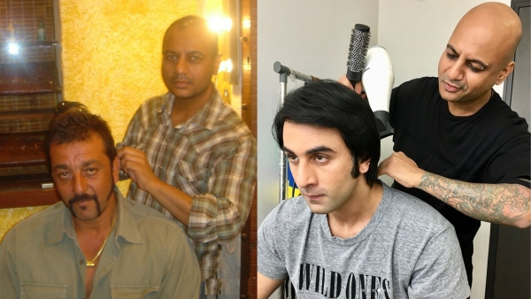 Aalim Hakim with Sanjay Dutt  in 2005 and Ranbir Kapoor in 2017.