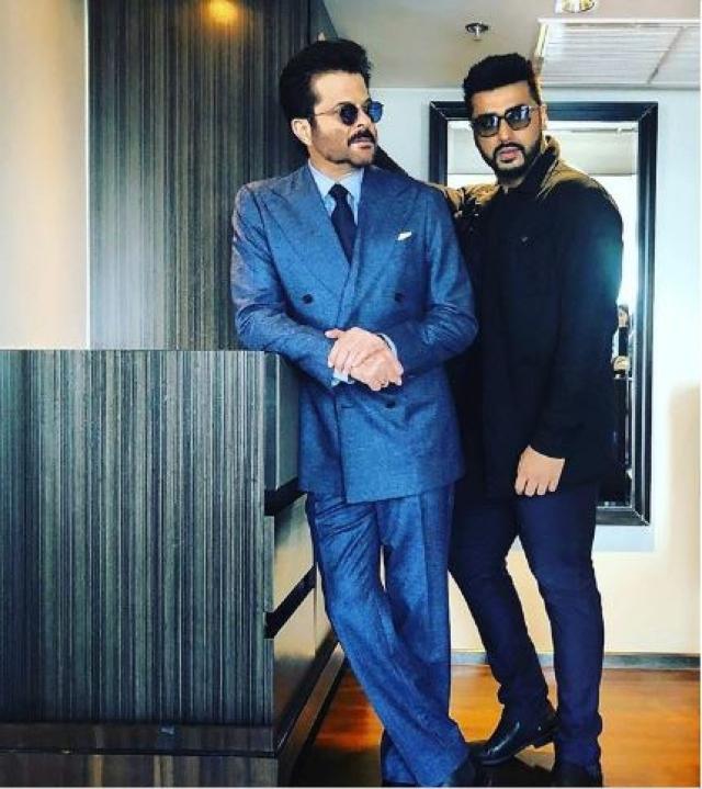 Arjun Kapoor with chachu Anil Kapoor.