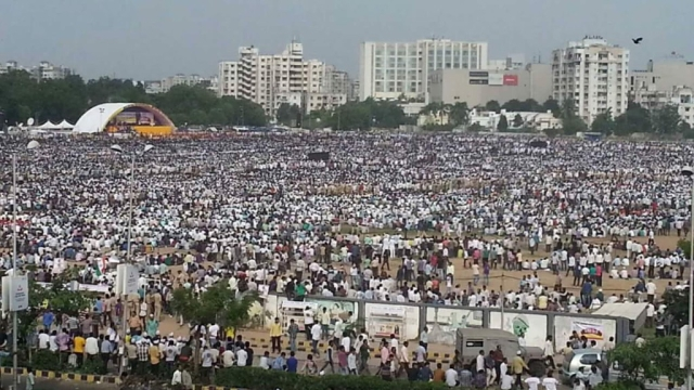 The 25 August, 2015, the Patidar Maha Rally saw an excess of 25 lakh Patels flock towards the GMDC grounds in Ahmedabad.