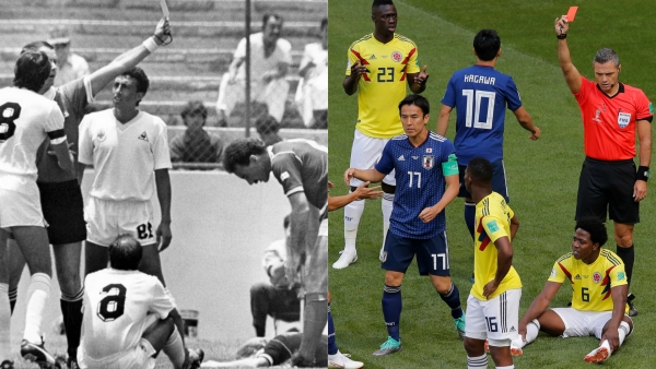 Batista in 1986, Sanchez in 2018:  Fastest World Cup Red Cards