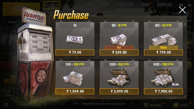 For people who are serious competitors, you can also buy points using cash