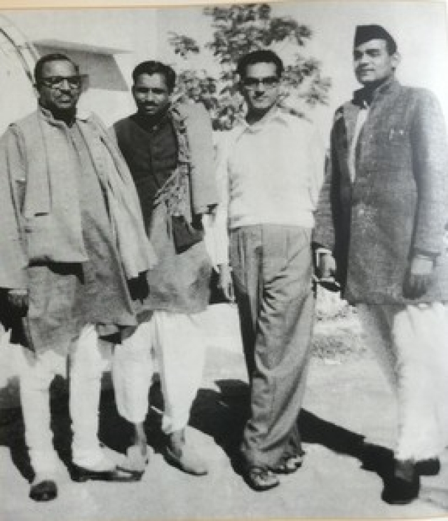 Atal Bihari Vajpayee (on the right) with Deen Dayal Upadhyaya during his time with the Jana Sangh.