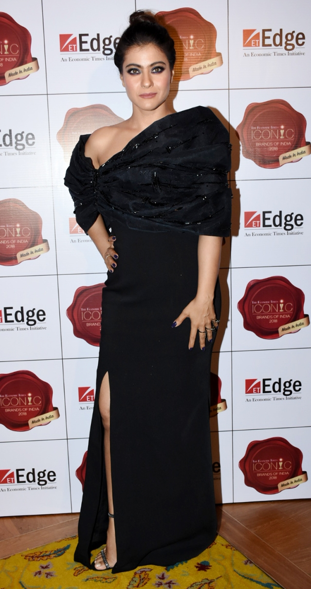 Kajol was dressed to the nines.