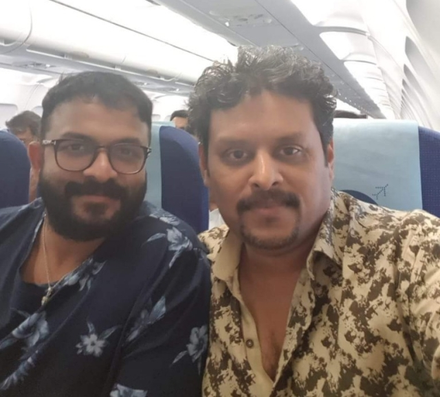 Jayasurya with director Ranjith Sankar.