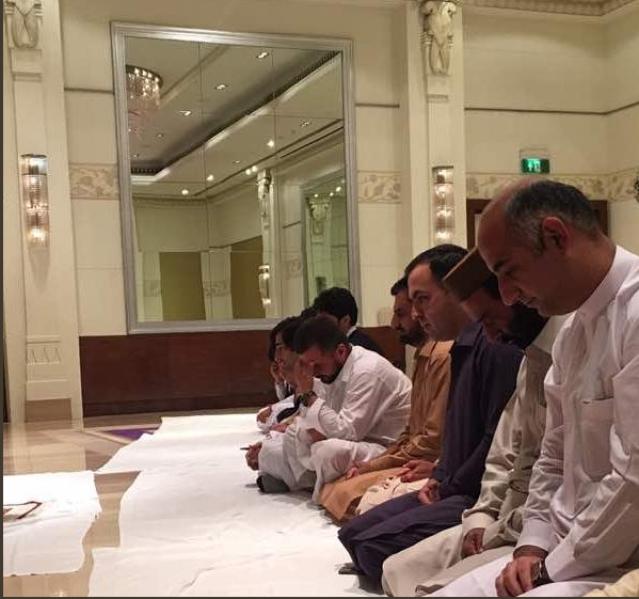 Afghanistan cricketers celebrate Eid.