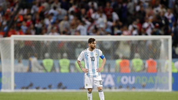 Argentina's Lionel Messi after his side lost to Croatia 0-3 on Thursday.