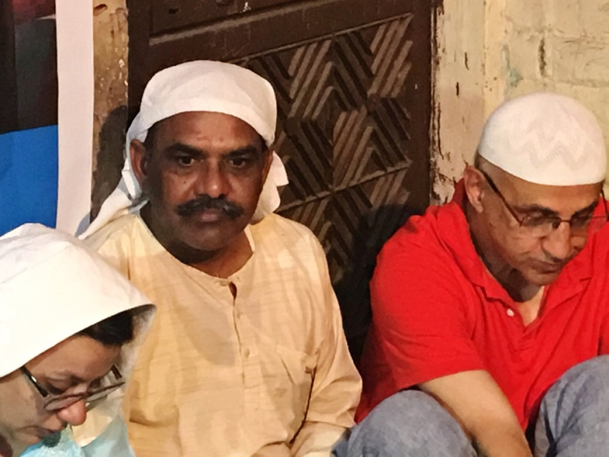 Ankit's father, Yashpal, at the Iftar.