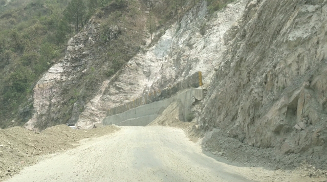 Image result for steep cutting slope char dham project quint