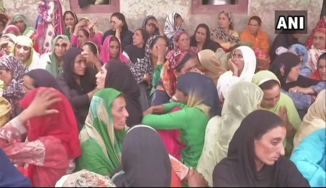 Family of Aurangzeb mourn his death in Jammu and Kashmir's Poonch district.
