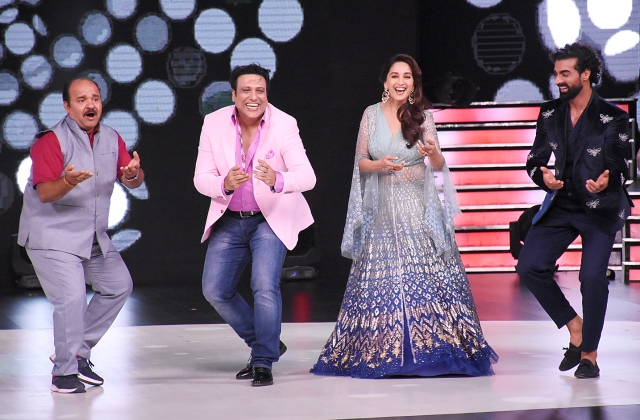 Shrivastava warms up with a dance number with Govinda and Madhuri Dixit.