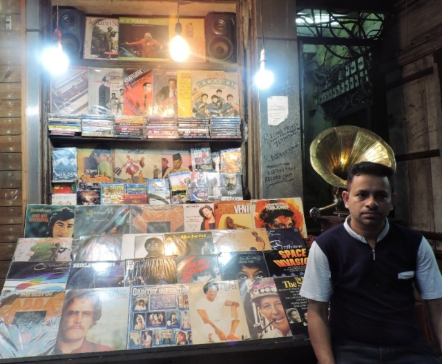 Danish Ashraf in front of his shop The Record Prince – the Mecca of vinyl records
