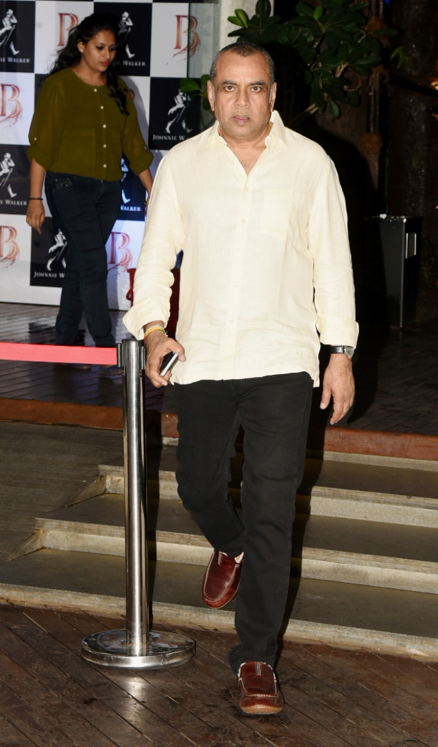 Paresh Rawal who played Sunil Dutt in the film was spotted exiting from the venue.