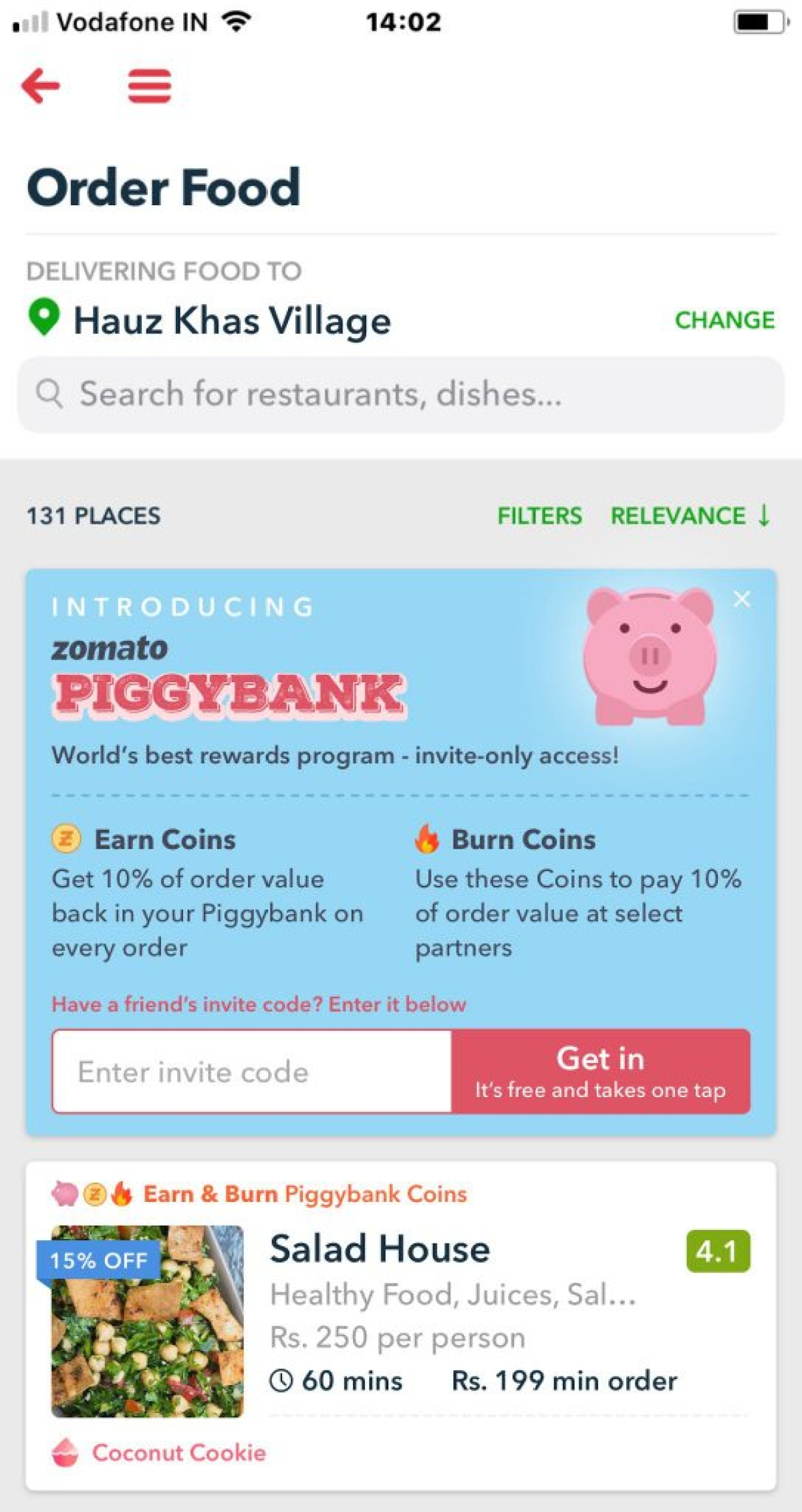 Zomato launches piggybank what does it offer how to join the quint if you are not a gold member nor a regular zomato user you will have stopboris Image collections