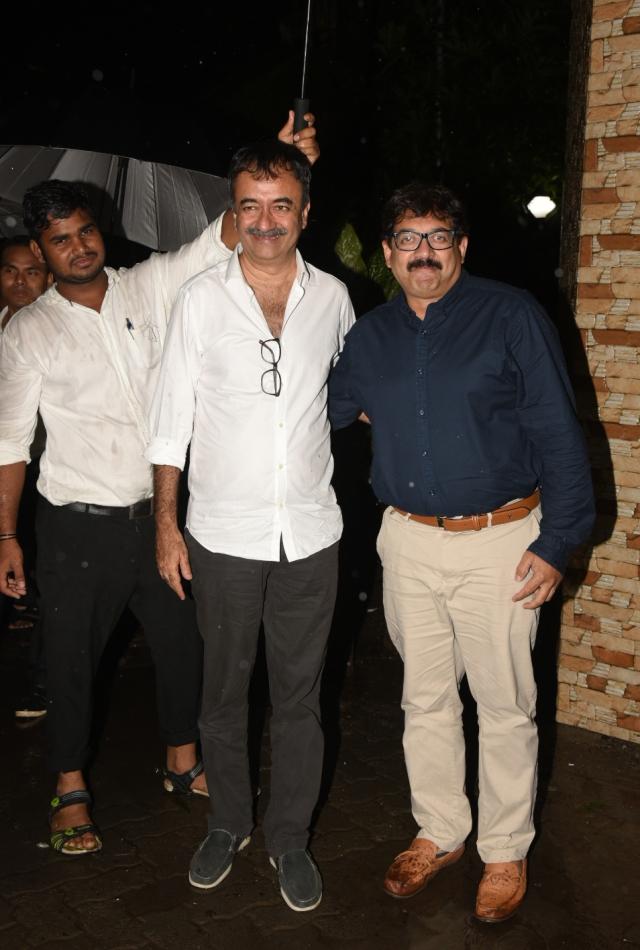 Filmmaker Rajkumar Hirani with writer Abhijat Joshi are beaming at the success of their pet project <i>Sanju.</i>