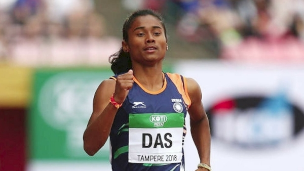 File picture of Hima Das who has won a gold medal in the 400m event at the U20 World Championships.