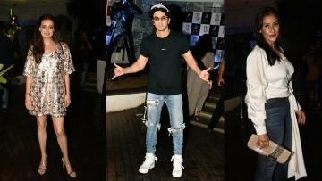 Dia Mirza, Ranbir Kapoor and Manish Koirala attended the <i>Sanju </i>success party on Monday night.